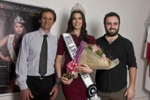 Prefeito Ivan Canci, Ane Caroline Zilio e Diego Suffredini (Coordenador)