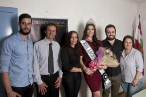 Bruno Zilio (irmão), Prefeito Ivan Canci, Liane Zilio (mãe), Ane Caroline Zilio, Diego Suffredini (Coordenador) e Eliane Suffredini (convidada)