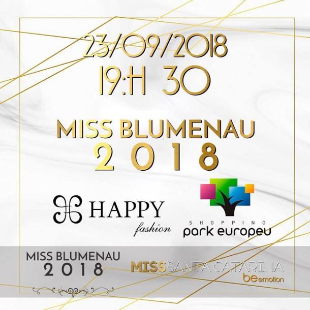 BANNER MISS BLUMENAU 2018