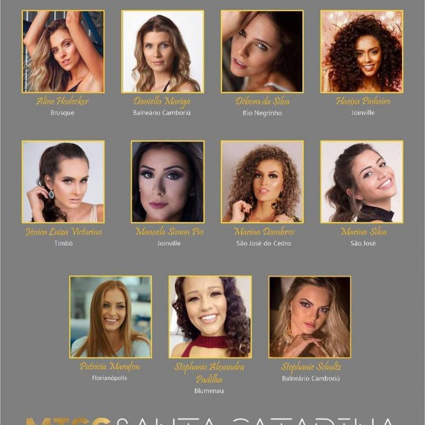 CANDIDATAS MISS SC BE EMOTION 2018