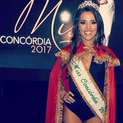 MISS CONCÓRDIA 2017 - Eduarda Thais Gallas Rodrigues