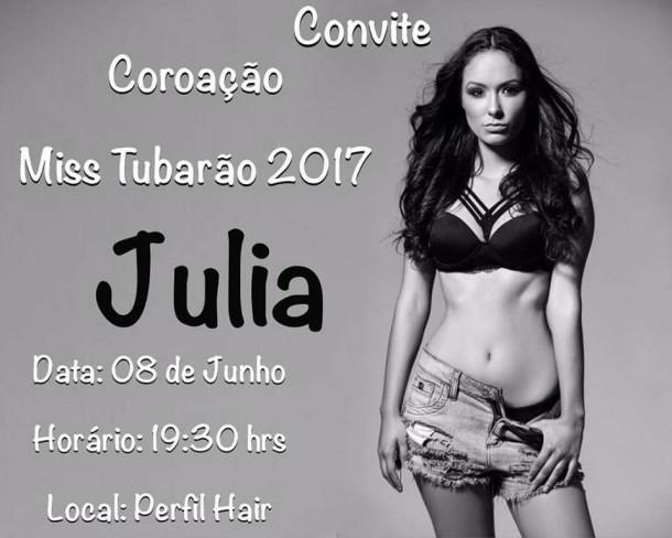MISS TUBARÃO 2017 - COROAÇÃO